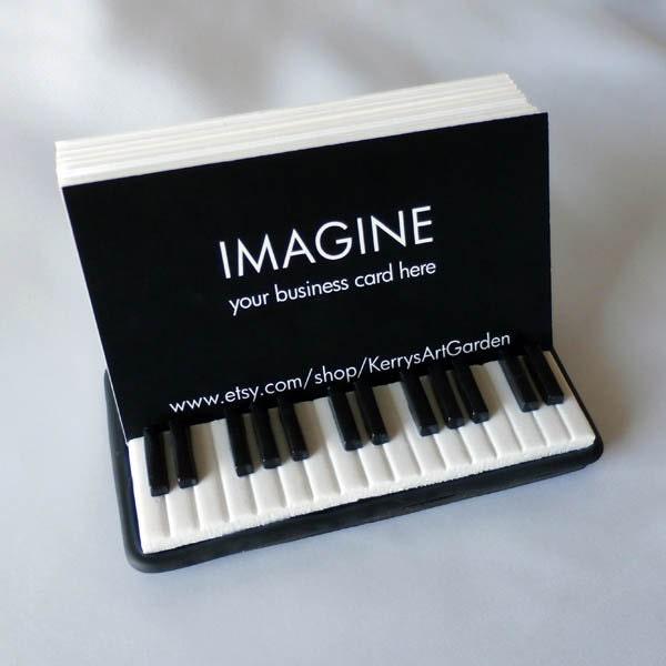 Keyboard Polymer Clay Business Card Holder By Kerrysartgarden