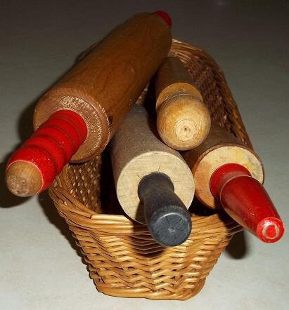20% Off Sale - Vintage Wood Rolling Pins - Set of 4