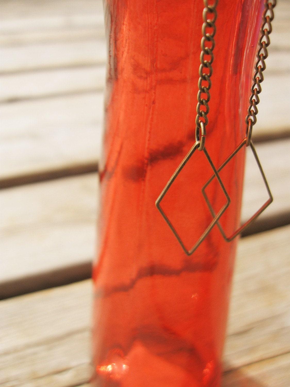 Diamond Drops - Vintage Inspired Dangle Earrings