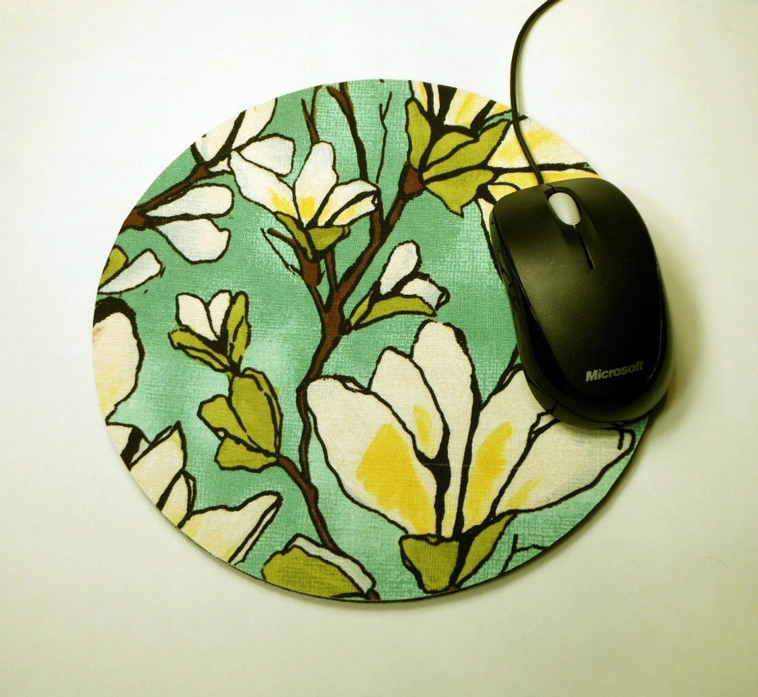 Magnolia Mouse Pad Computer Mouse Pad with Matching Coaster