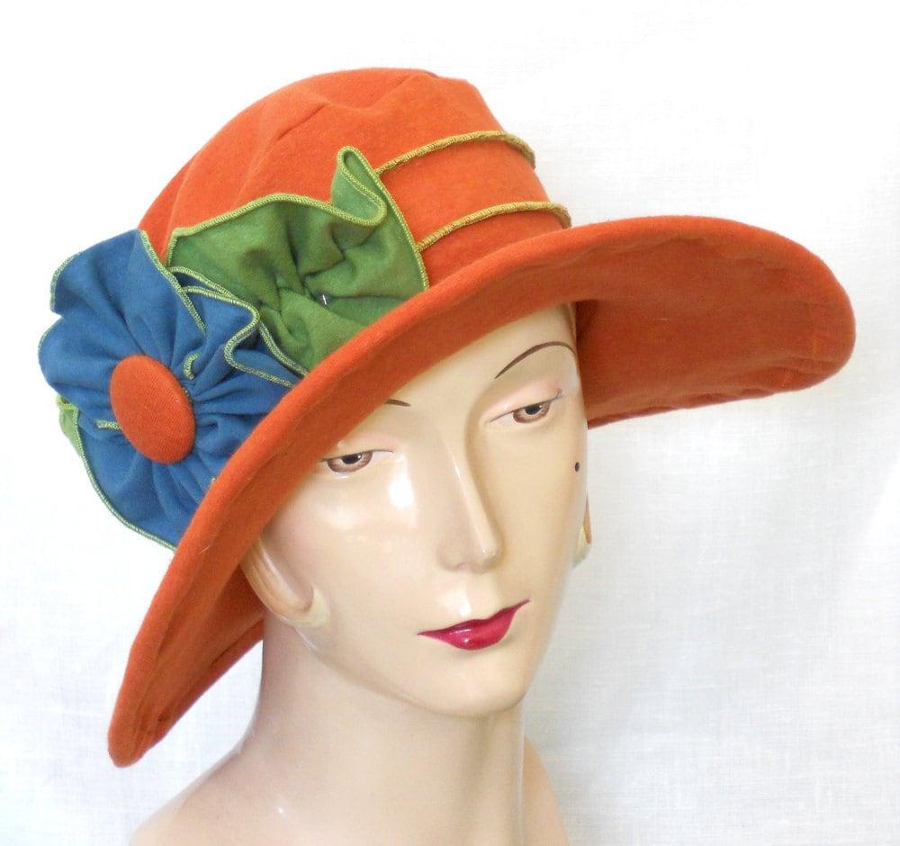 sun hat womens travel hat organic vintage style by hatjunkie