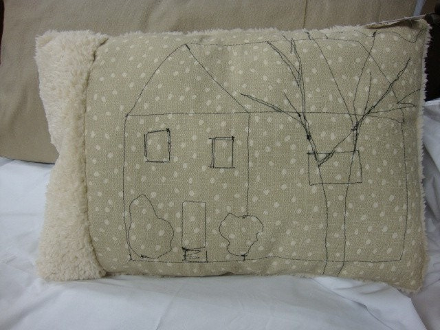 Cozy House Art Pillow