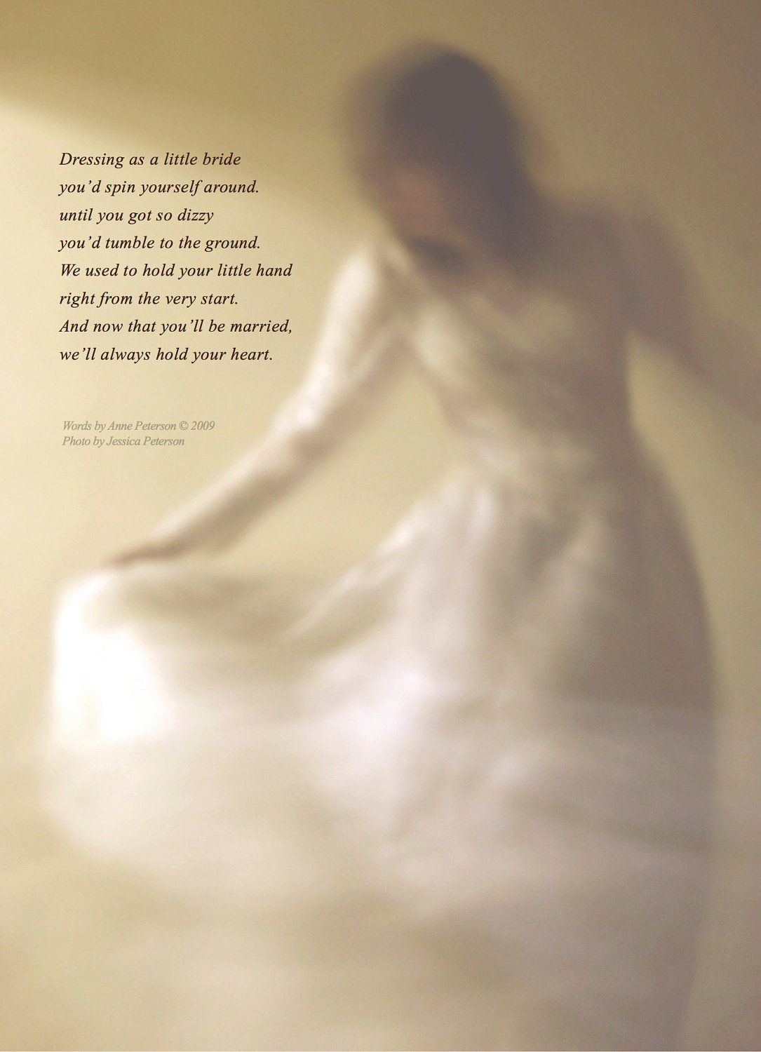 11x14 Nostalgic Poem To Daughter Little By Annepetersonpoetry