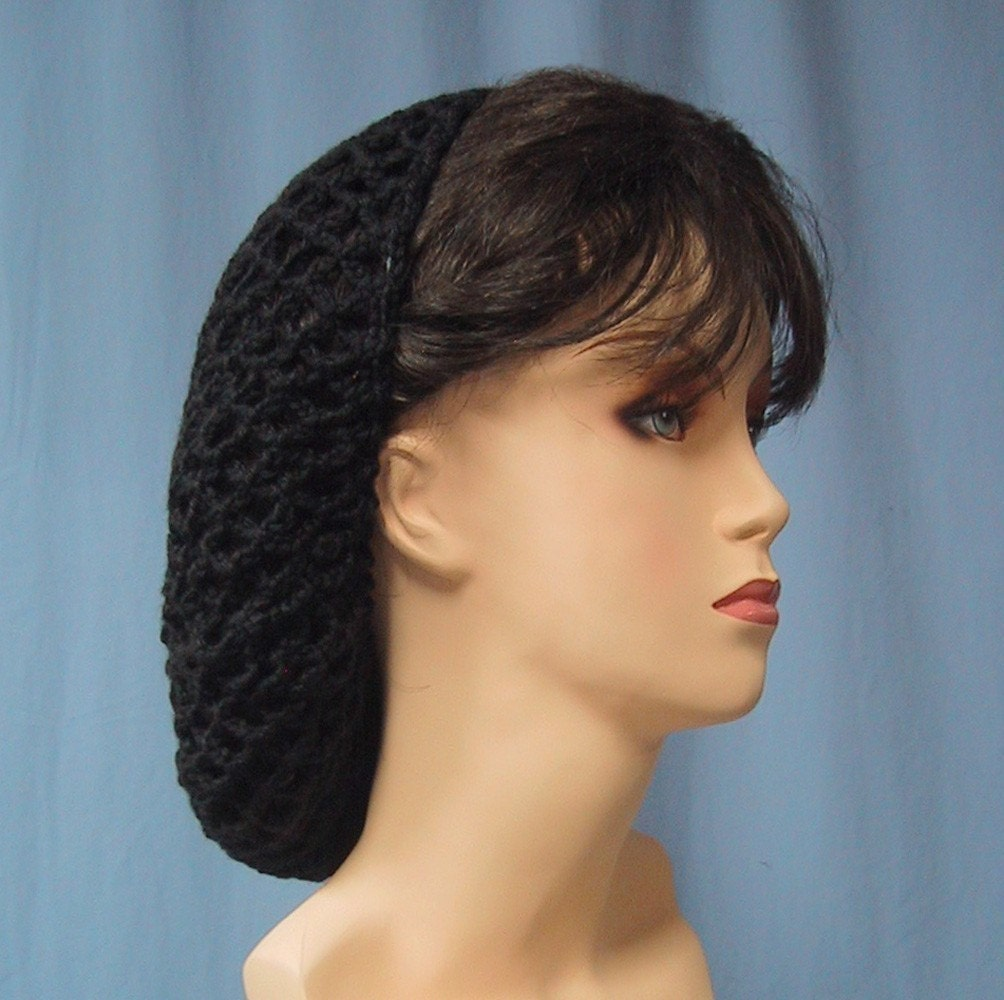 Crochet Hair On Net : Crocheted SNOOD - Renaissance Costume Hair Accessory - Headgear Hair ...