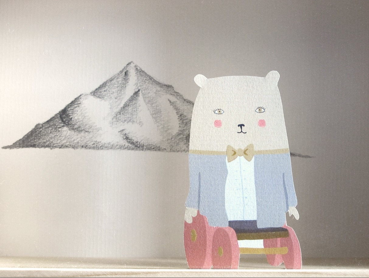 "Tableau ""sweet bear & the mountain"" - La K'rosserie -"