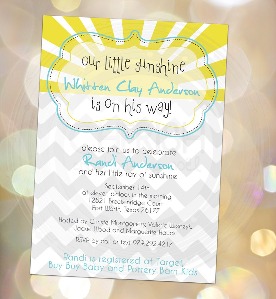 items similar to our little sunshine baby shower baby announcement