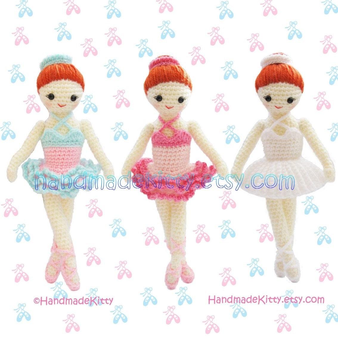 Amigurumi Ballerina Pattern : HandmadeKitty: Dress up Ballerina Girl Amigurumi Crochet ...