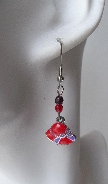 Red Hat Earrings - ShadowoftheCross