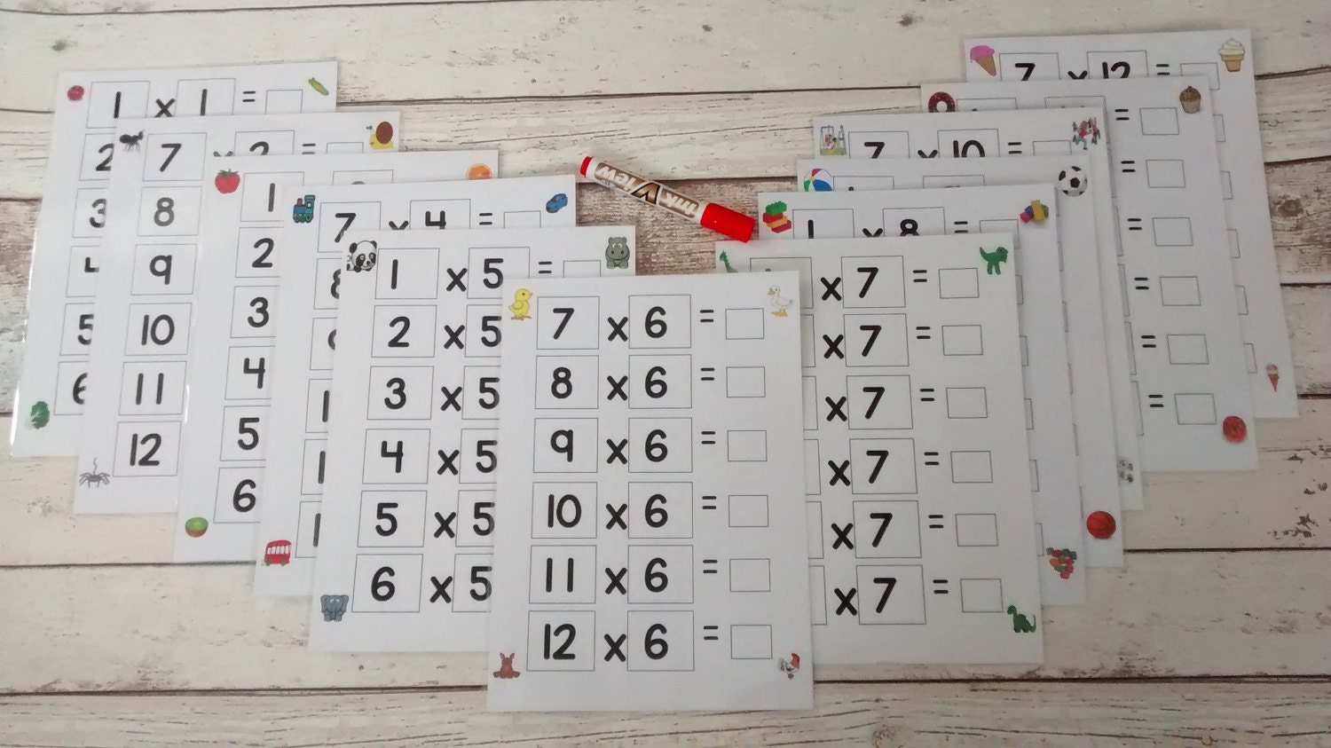 Times table boards times tables 1 to 12 numeracy maths resources number tools help with times tables laminated write on wipe off