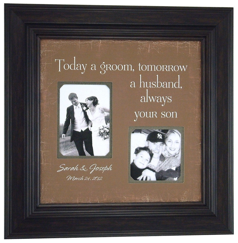 Cute Wedding Gifts For Parents : Wedding Gifts Parents Bride Groom MOM & DAD Sign Frame Father of The ...