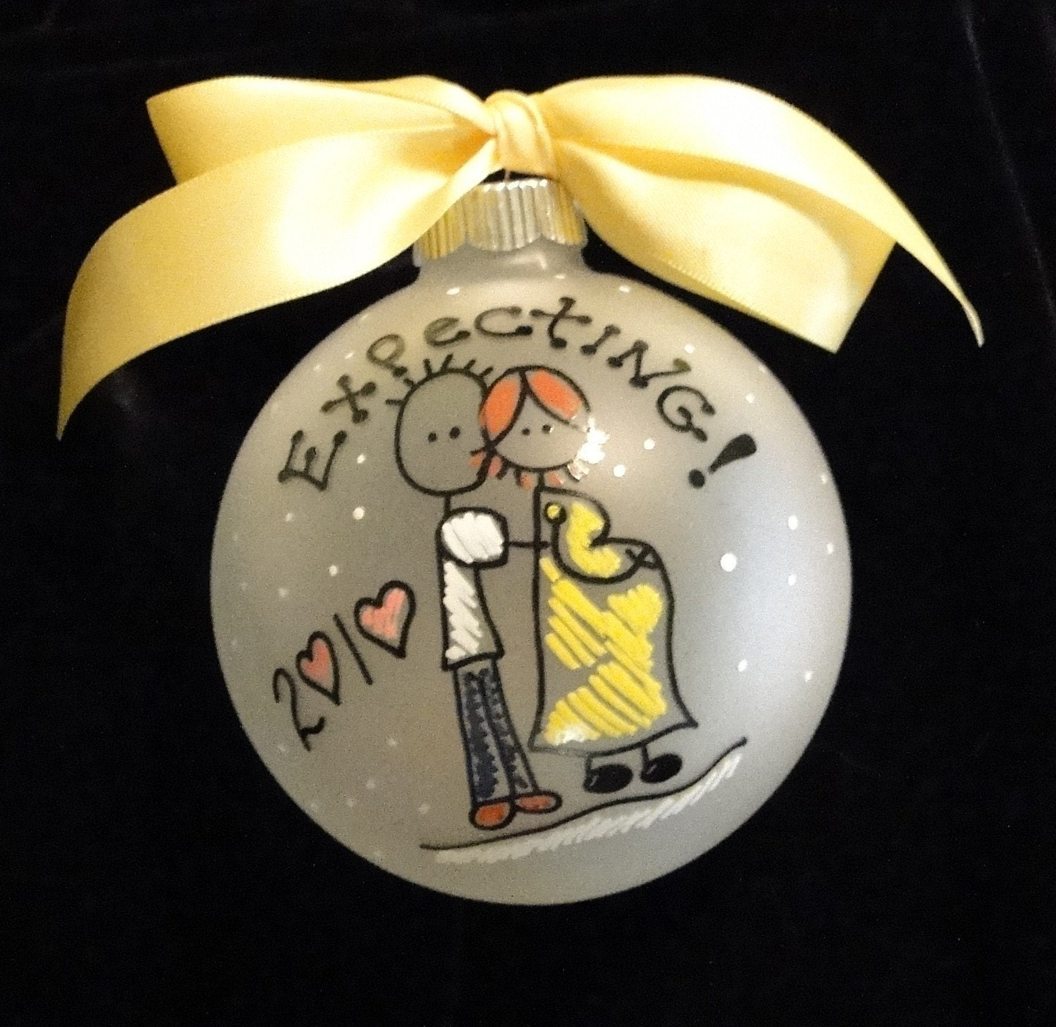 Expecting PERSONALIZED Christmas Ornament New Parents, Made to Order