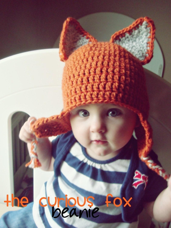 The Curious Fox Beanie - Newborn - 10 years