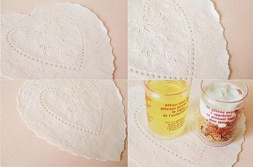 Heart Shape Lace Paper Doilies (10 sheets)