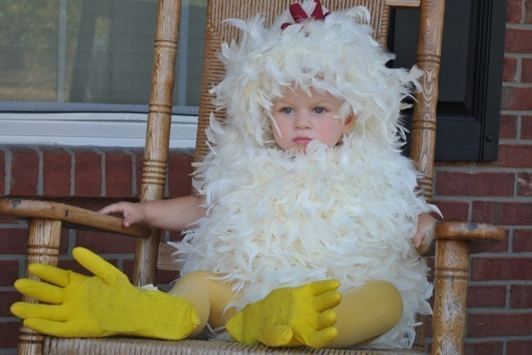 12/18/24 months Toddler Chicken Halloween Costume Handmade CLEARANCE 50 percent off