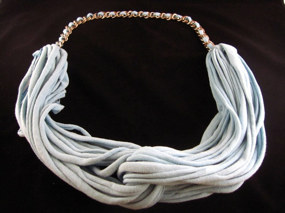 Molly  Necklace in Light Blue