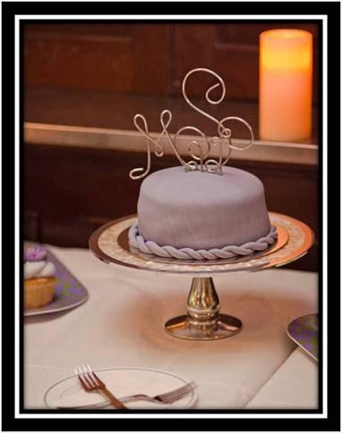 3 Piece Wedding Cake Topper