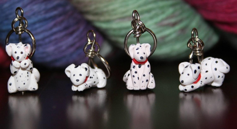 Dalmation Stitch Markers (set of 4)