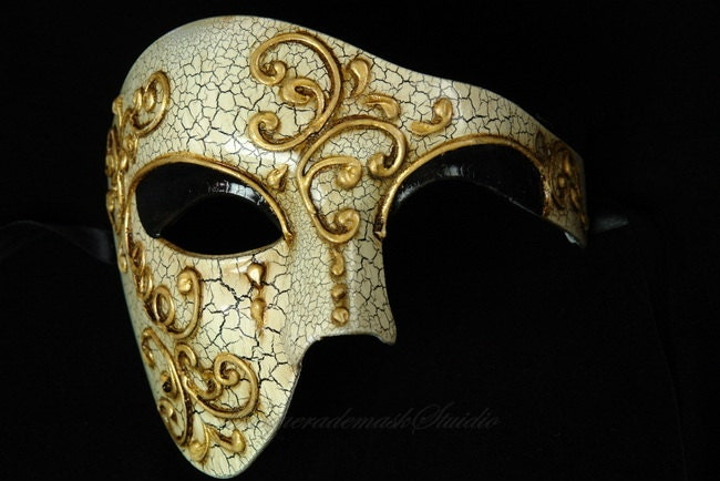 Men Masquerade Mask for Men Phantom of the by MasquerademaskStudio