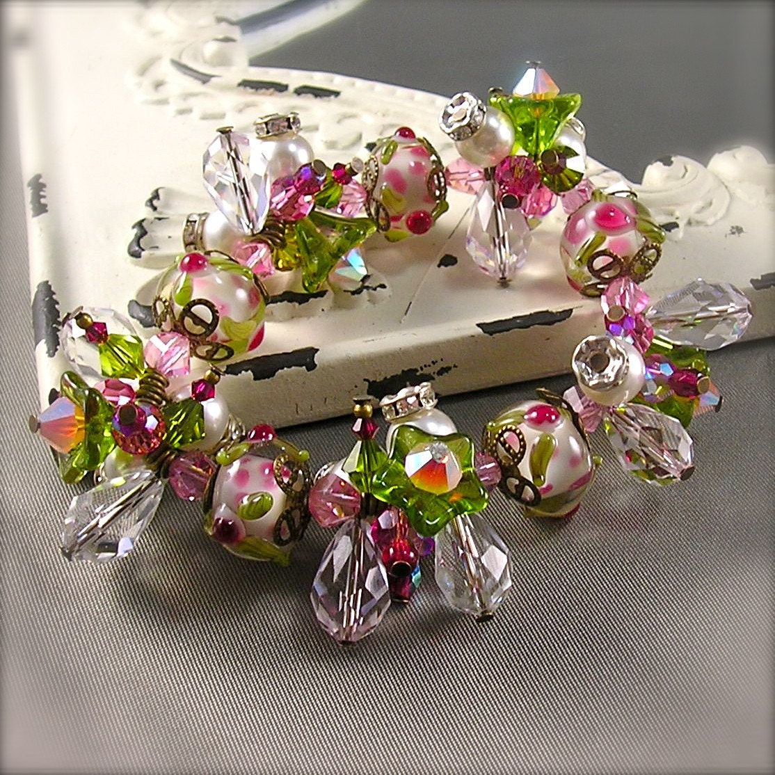Spring Fling stretch charm bracelet