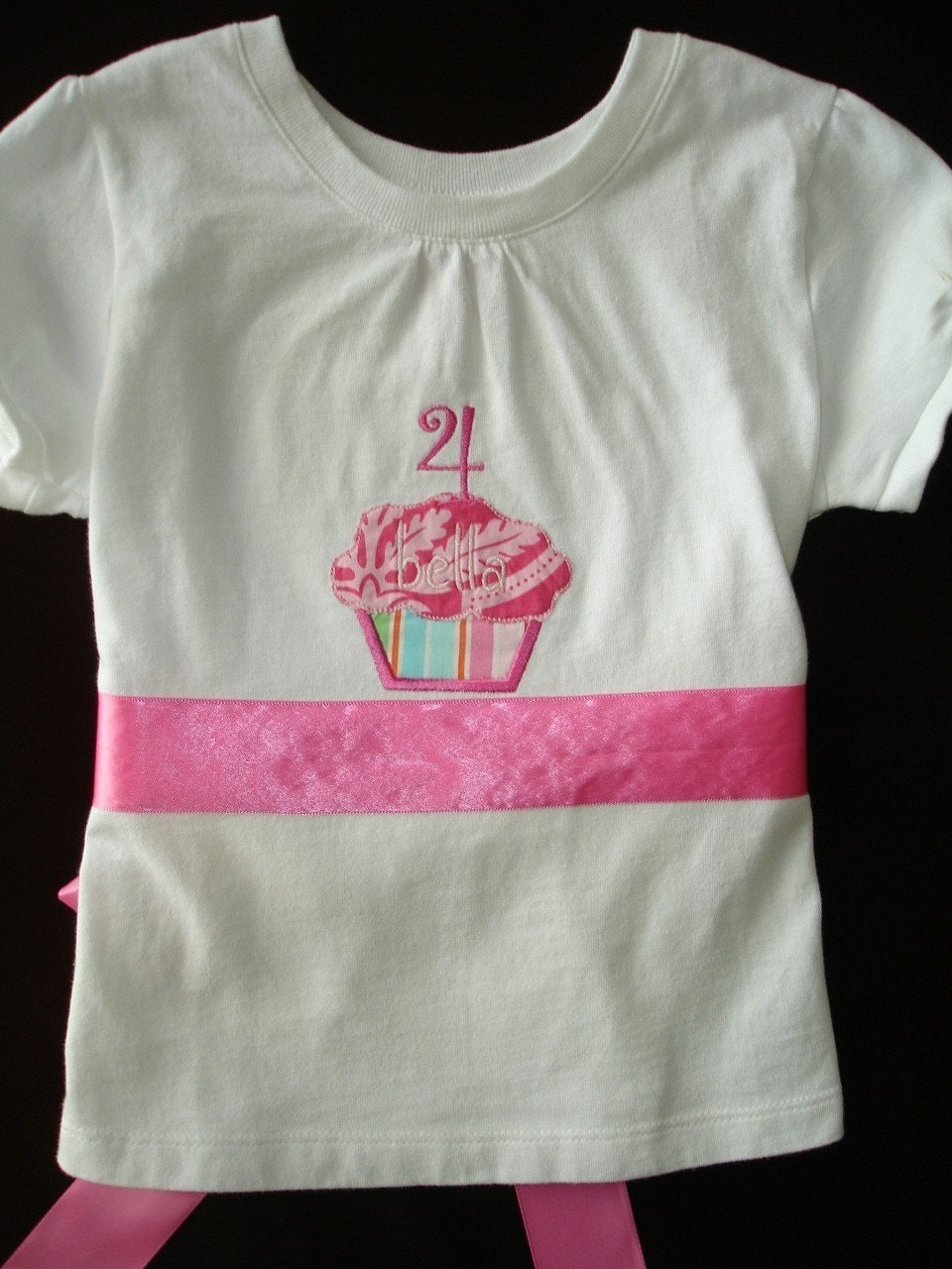 Custom Personalized Birthday Cupcake Shirt/Onesie