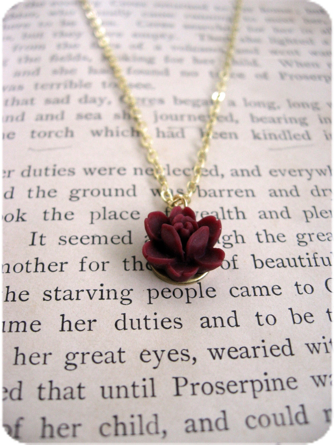 The Lydia Deep Rose Red Necklace