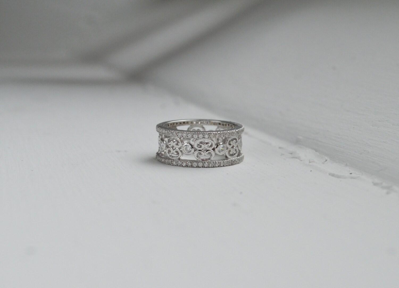 Micro Pave Milgrain Opal Engagement Ring