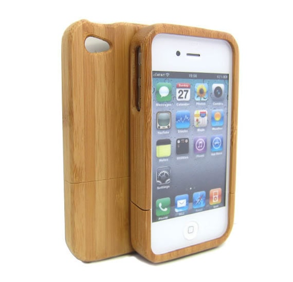 Free Shipping - Wood iPhone Case - iPhone 4 wood case - iphone 4s case - cases for iphone 4 - wooden iphone 4 case - iphone cover