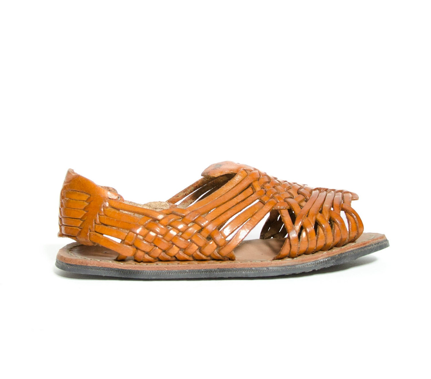 s vintage huarache sandals with honey by