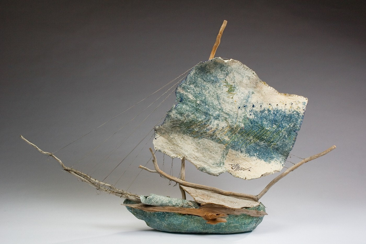 one of a kind, handmade sailing vessel
