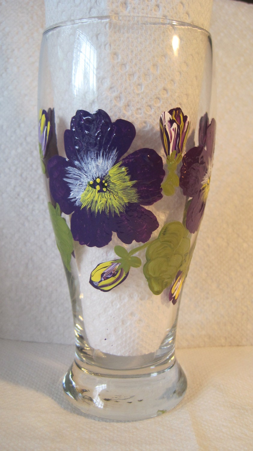 Unavailable listing on etsy for Hand painted drinking glasses