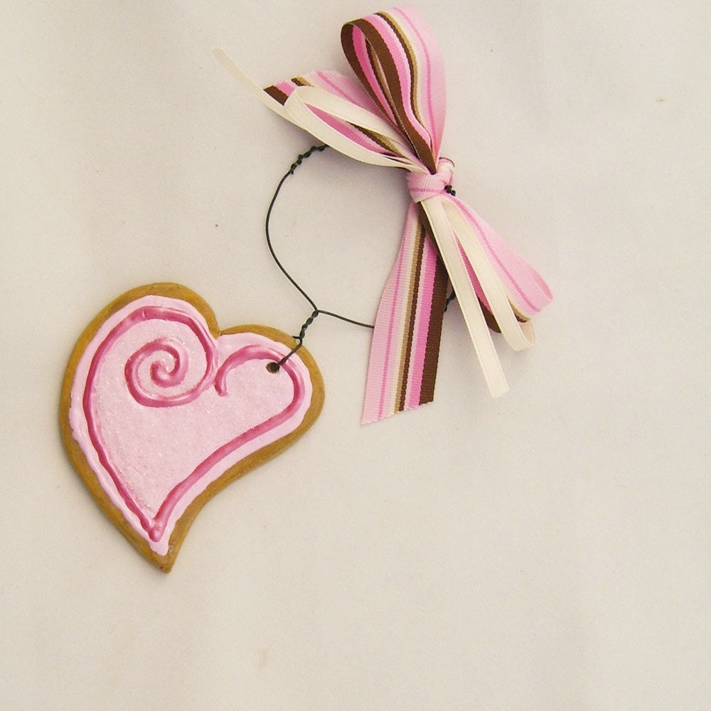 Iced Sugar Cookie Heart Ornament Paper Clay