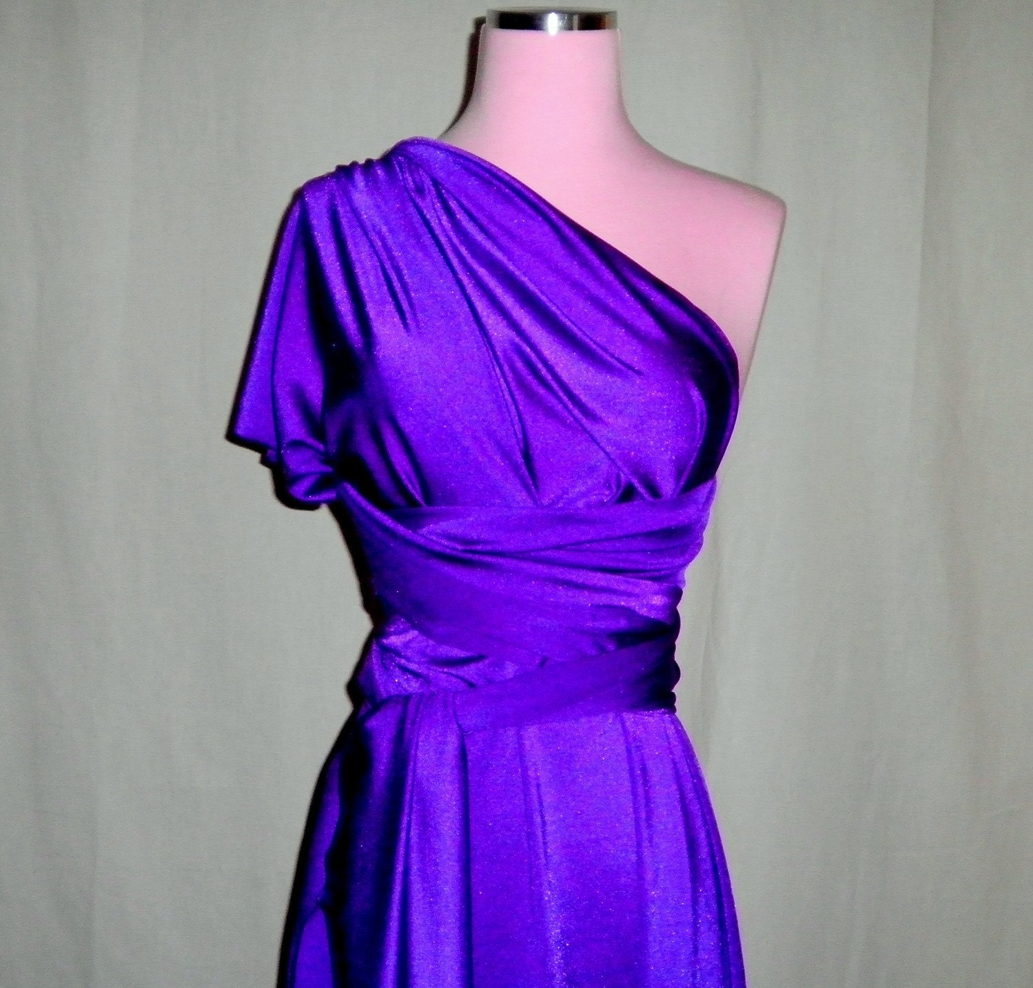 Deep Purple Bridesmaids Wrap/Twist Dress...One Dress/Infinite Styles...82 Colors /Patterns to Choose From