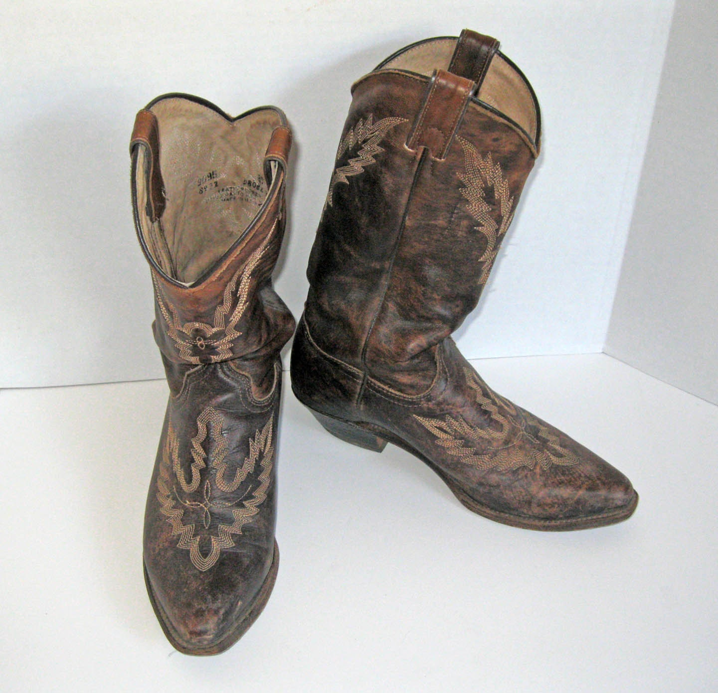 items similar to fancy stitch mexican cowboy boot womens