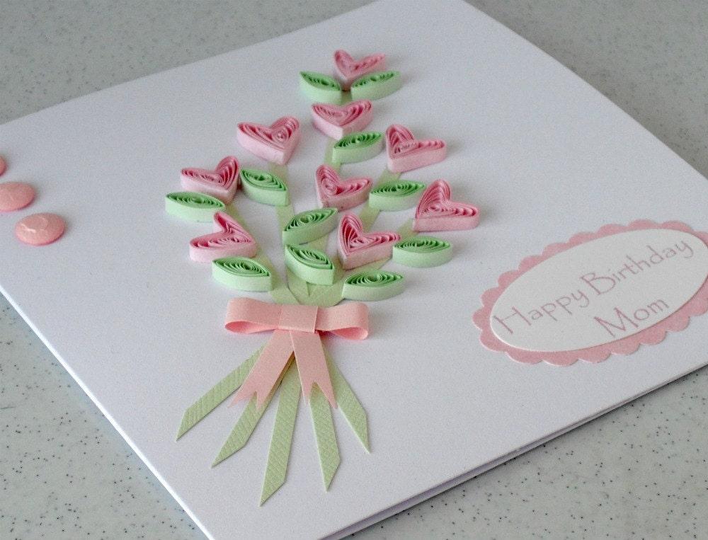 Бумага рюш карты, покрытый перьями цветы ручной работы