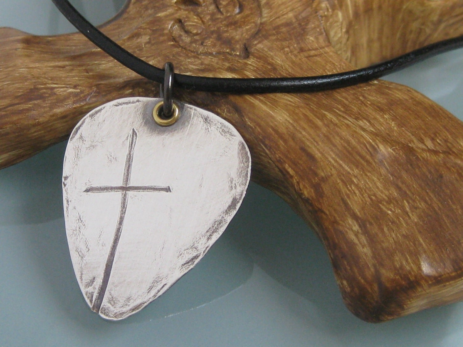Rugged Men's Cross Necklace