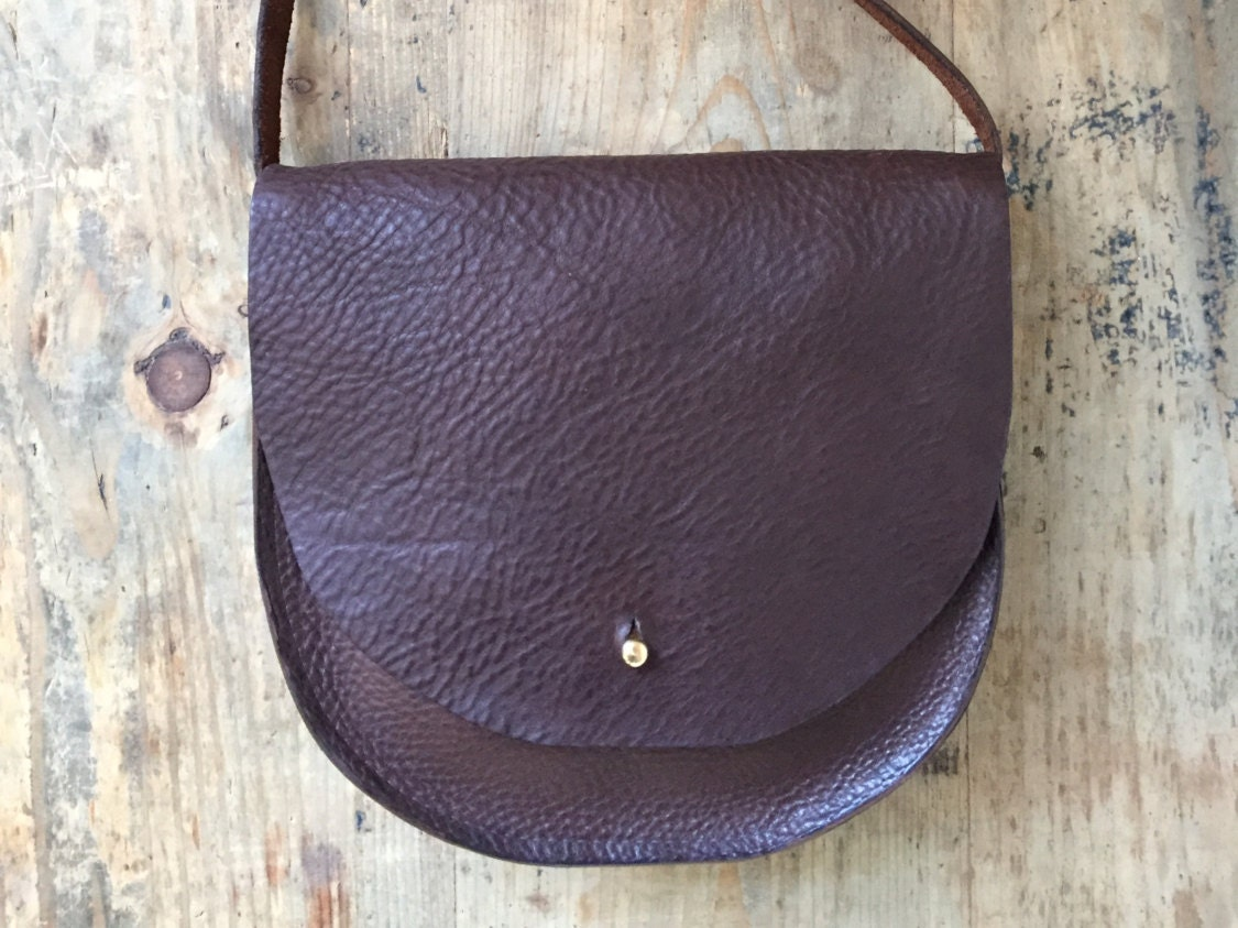 Small brown leather saddle bag brown handbag brown leather purse gift for her leather cross body saddle bag brown leather purse bag