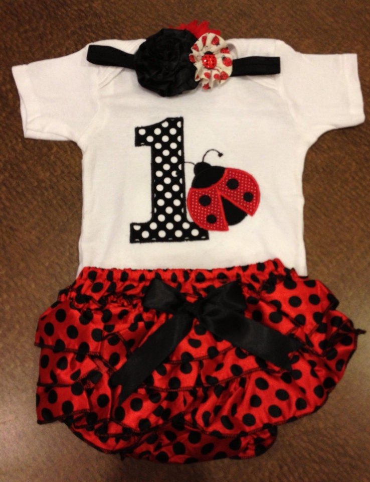 foto de Birthday Ladybug outfit by SaraSewtique on Etsy