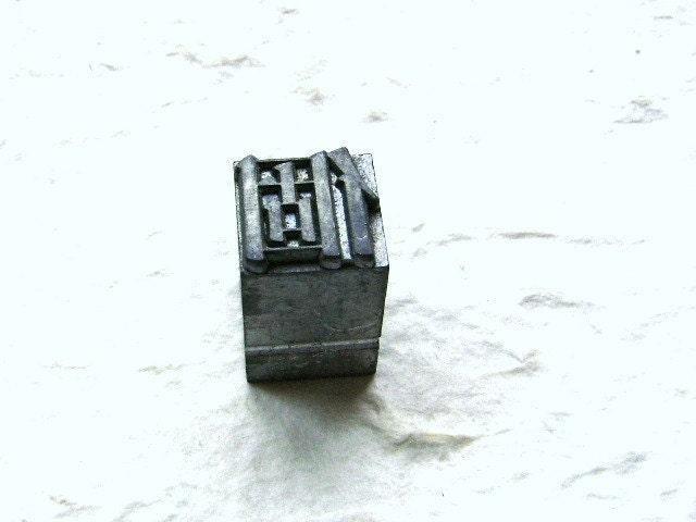 Vintage Japanese Typewriter Key Stamp Single Showa Period L Size