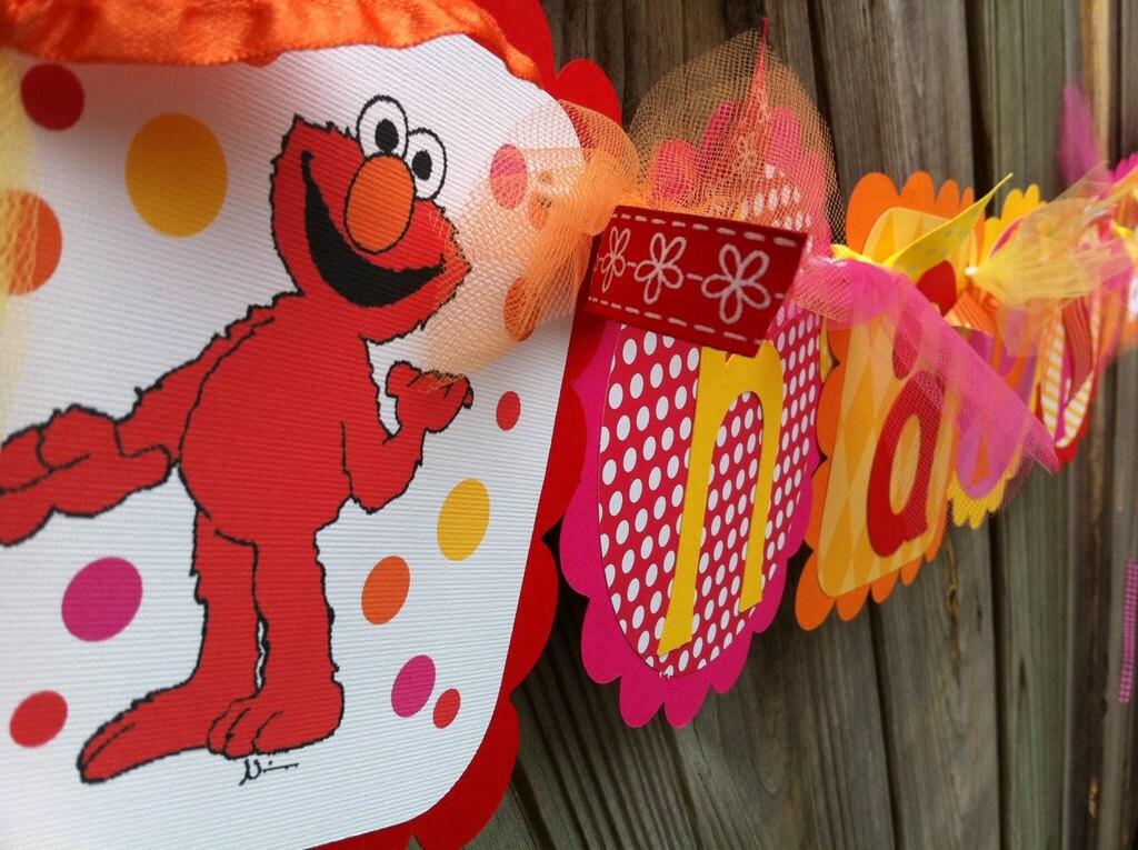 happy birthday elmo pics. Happy Birthday Elmo Banner in