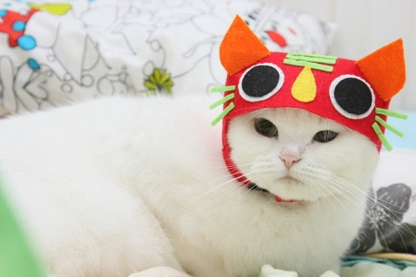 Chinese Tiger Cat Hat (Red)