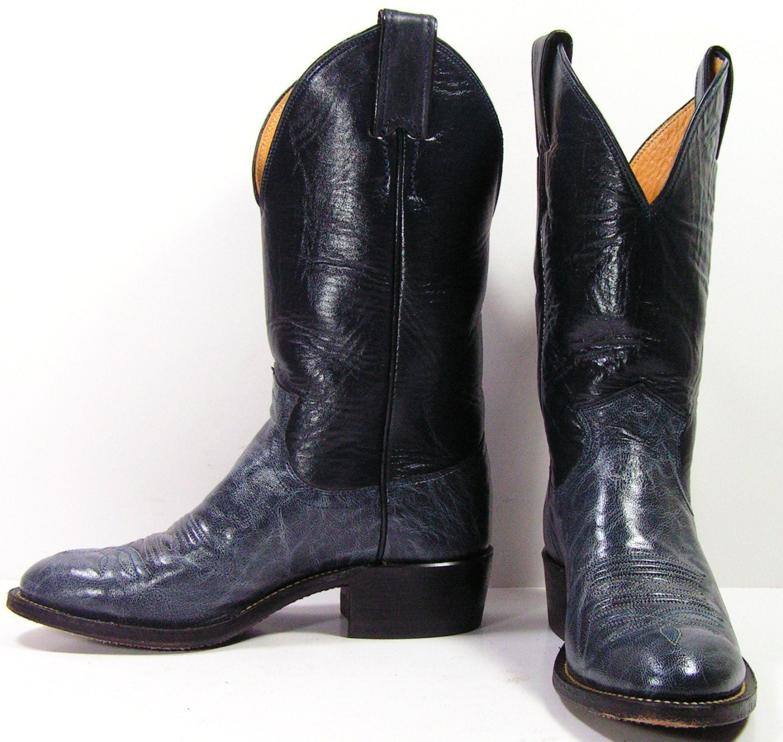 Vintage Justin Cowboy Boots Womens 5 M B By Vintagecowboyboots