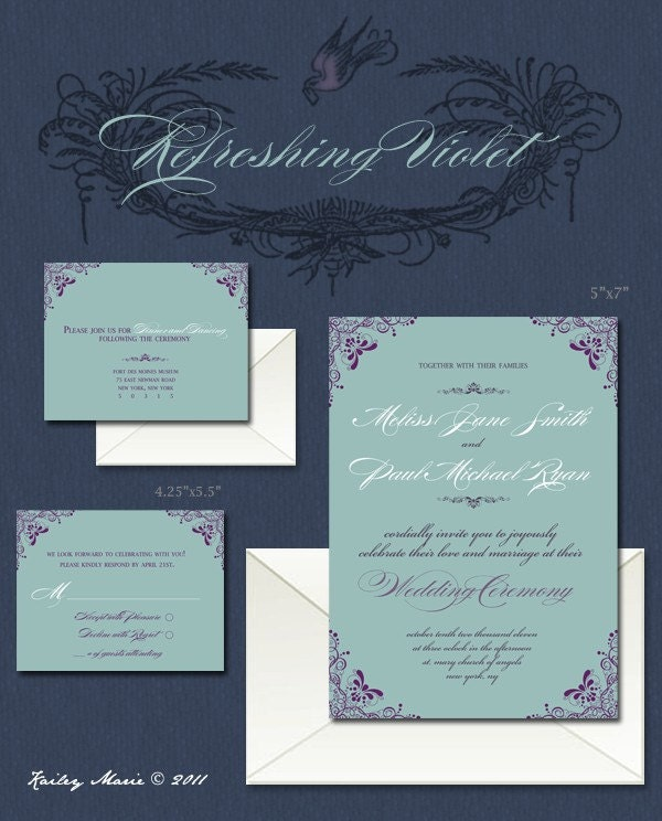Invitation Suite - Refreshing Violet