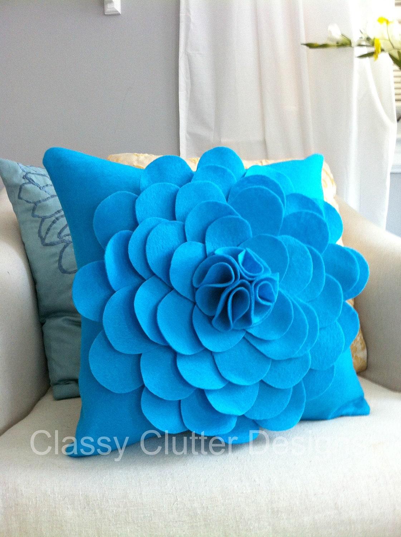 Бирюзовый войлока цветок Чехол