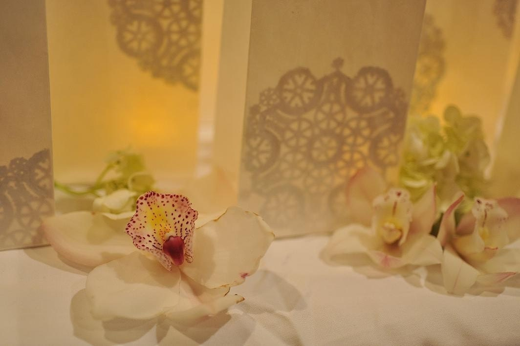 Lovely and lacey - Doily Luminaries