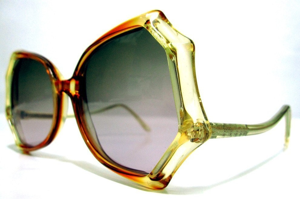80's Vintage Spider Web Shape Sunglasses