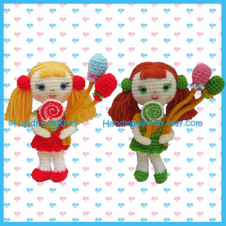 Amigurumi Pattern Creator : HandmadeKitty: Candy Girls Amigurumi Crochet Pattern