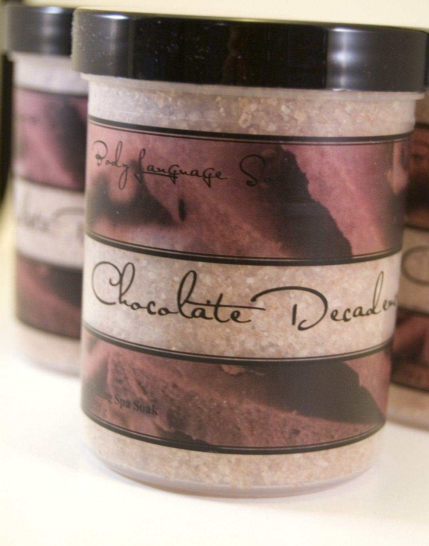 Chocolate Decadence Spa Soak - Moisturizing Bath Salts