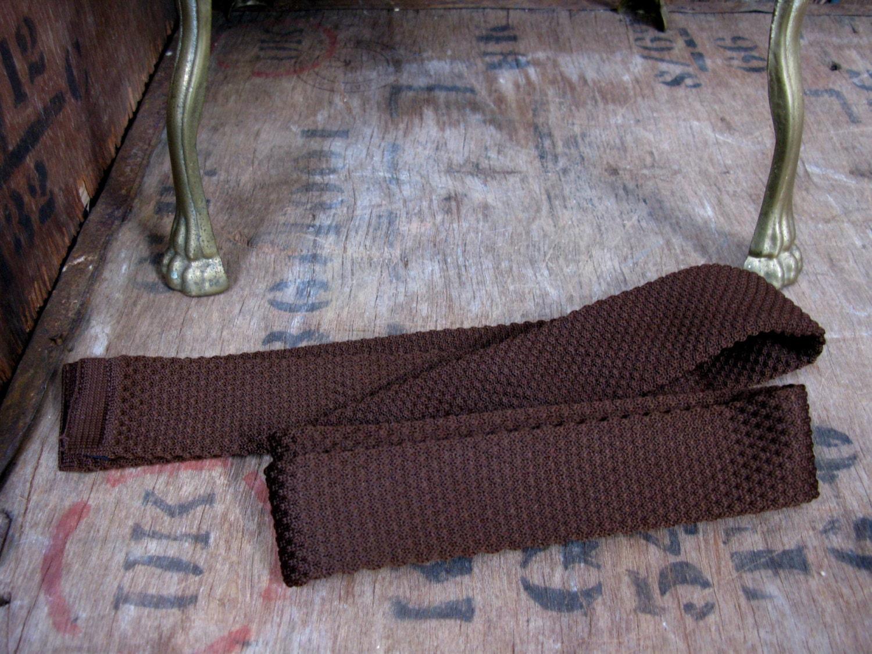 1960s Mens Tie Terylene Tie Knitted Tie Mod Tie 1960s Necktie Narrow Tie Slim Tie Skinny Tie Skinny Necktie Vintage Necktie