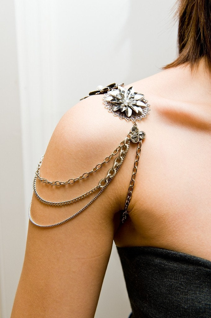 Crystal/Rhinestone Shoulder jewelry/ shoulder piece/ Armor Jewelry