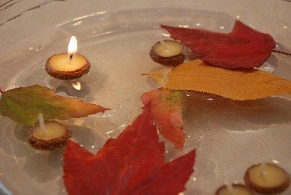 10 Acorn Cap Candles